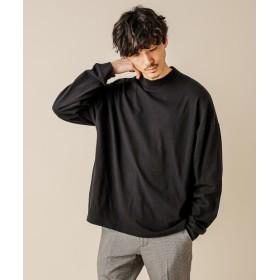 Discoat(ディスコート) メンズ 【WEB限定】ヘビーウェイトモックネックロングスリーブTシャツ ブラック