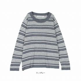 [マルイ]【セール】【大きいサイズ】【L-5L】ボーダープルオーバー/フルールbyミントブリーズ(Fleur)