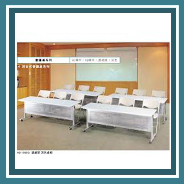 『商款熱銷款』【辦公家具】HS-1860G 銀桌架 灰色桌板 折合式會議桌 辦公桌 書桌 桌子