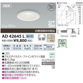 コイズミ照明(KOIZUMI) LEDSB形ダウンライト【電気工事必要】 LED(昼白色) 白熱球60W相当 AD42645L