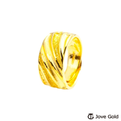 Jove Gold 漾金飾 似水年華黃金男戒指 寬版
