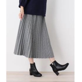 SHOO・LA・RUE / シューラルー カットジャガードプリ−ツスカート