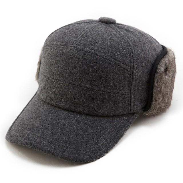 帽子 メンズ キャップ 防寒帽子 作業帽子 ミリタリーキャップ ワックキャップ 秋冬 大きいサイズ ウール おしゃれ 釣り 登山 自転車 アウトドア シッギ Siggi 59 60 61㎝ グレー