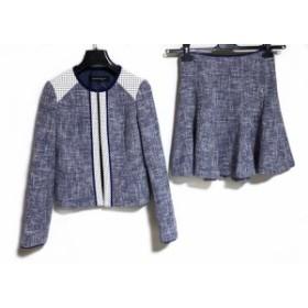 ナネットレポー nanettelepore スカートスーツ サイズ2 4 レディース ネイビー×アイボリー×黒【中古】20191005