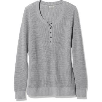 コットン/カシミヤ・セーター、ワッフル・ヘンリー/Cotton/Cashmere Sweater, Waffle Henley