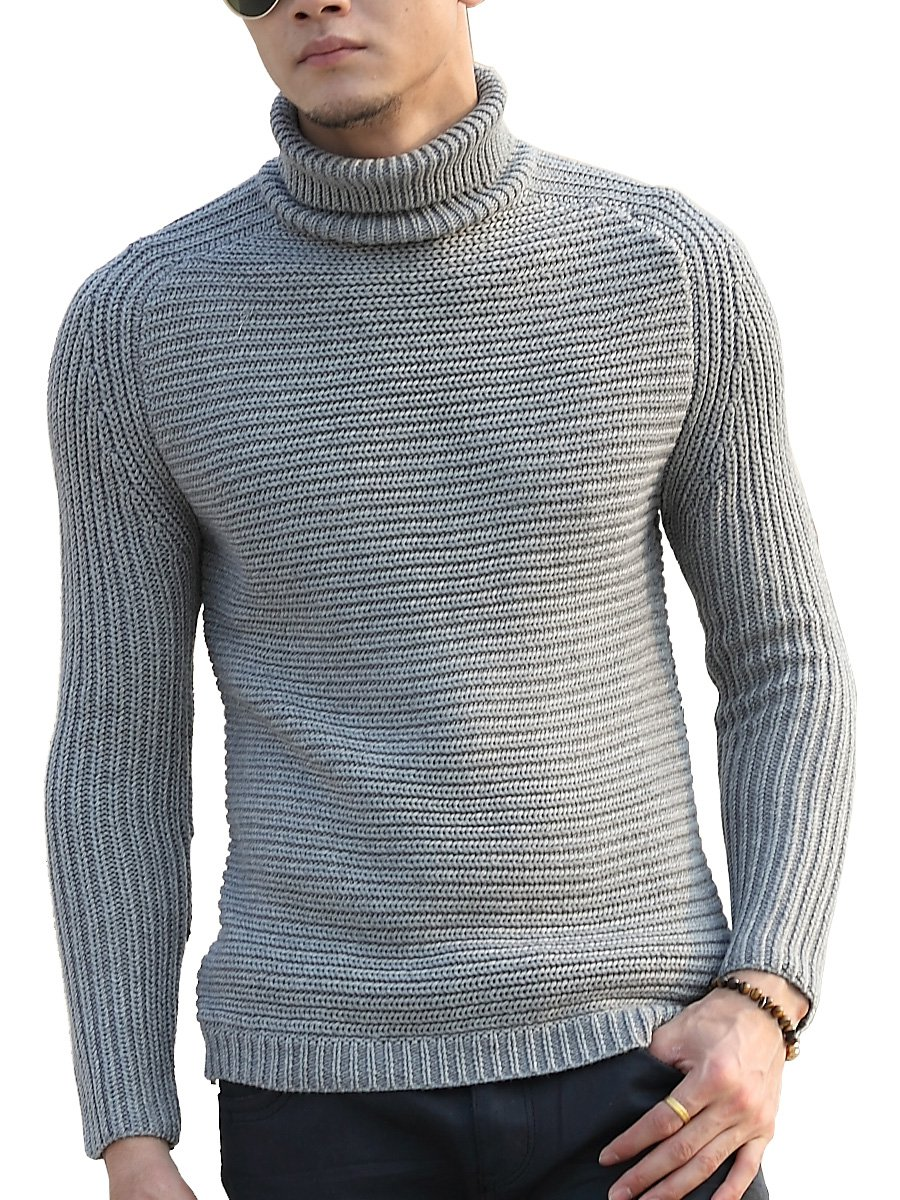 Valoda Men Color Block Long Sleeve Round Neck Knit Pullover Sweater