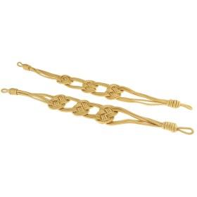 75cm タッセルカーテン ネクタイバック ホールドバック ロープ クリップ - ゴールド