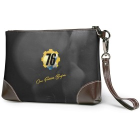 フォールアウト76 クラッチバッグ メンズ レディース セカンドバッグ ハンドバック バッグインバッグ ジッパー ポーチ 大きい財布 おしゃれプリント 小銭入れ ビジネスカ 通勤 アウトドア