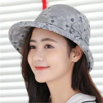 バケットハット レディース ハット 帽子 女優帽 つば広 小顔効果 UVカット 綿麻 女性用 紫外線対策   代引不可