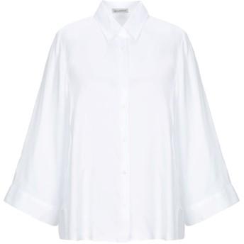 《セール開催中》CAMICETTASNOB レディース シャツ ホワイト 40 指定外繊維(テンセル) 100%