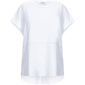 《セール開催中》PESERICO レディース T シャツ ホワイト 42 コットン 90% / ポリウレタン 10%