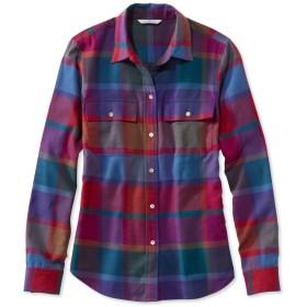 シグネチャー・ライトウェイト・フランネル・シャツ、プラッド/Signature Lightweight Flannel Shirt, Plaid