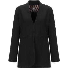《セール開催中》SOUVENIR レディース テーラードジャケット ブラック L ポリエステル 95% / ポリウレタン 5%