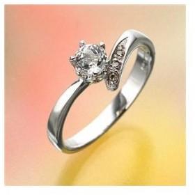 姫系ダイヤリング 指輪 ホワイトトパーズリング11号