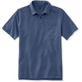 レイクウォッシュ・ガーメント・ダイ・コットン・ポロシャツ、スライトリー・フィット 半袖/Lakewashed Garment-Dyed Cotton Polo Shirt, Slightly Fitted Short-Sleeve