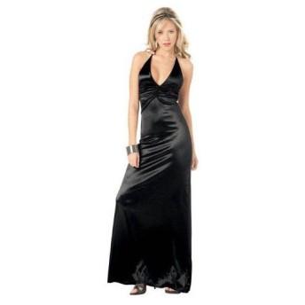ドレス 衣装 セクシー セレブ パーティ クラブ 大人用 ロングドレス 黒 ブラック