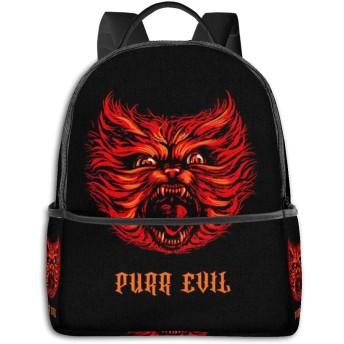 Purr Evil リュック バックパックリュックサック 大容量 PCバッグ レジャーバッグ 旅行カバン 登山リュック ビジネスリュック ユニセックス おしゃれ 人気