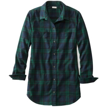 スコッチ・プラッド・フランネル・シャツ、チュニック/Scotch Plaid Flannel Shirt, Tunic