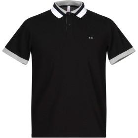 《セール開催中》SUN 68 メンズ ポロシャツ ブラック S コットン 95% / ポリウレタン 5%