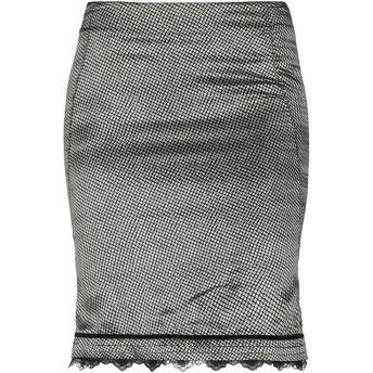 《セール開催中》SCERVINO STREET レディース ひざ丈スカート ブラック 42 シルク 100% / コットン
