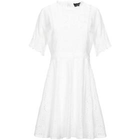 《セール開催中》VANESSA SCOTT レディース ミニワンピース&ドレス ホワイト M コットン 100%