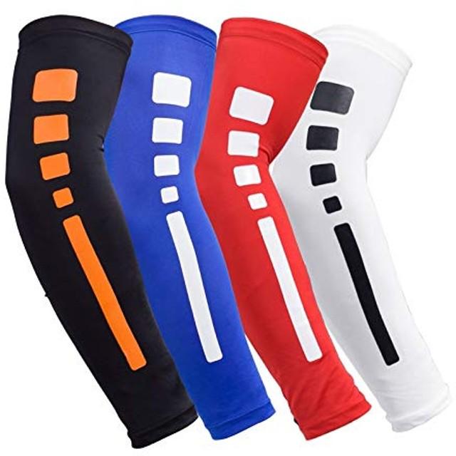 BAJIMI UVカット手袋 手触りが良い ユース&アダルトサイズ用スポーツアームスリーブスポーツコンプレッション、UVカット(3ペア) 夏 ハンド ケア レディース/メンズ (Color : Black, Size : L)