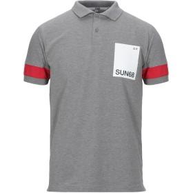《セール開催中》SUN 68 メンズ ポロシャツ グレー M コットン 95% / ポリウレタン 5%