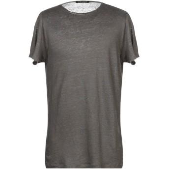 《セール開催中》NEVER ENOUGH メンズ T シャツ 鉛色 M 麻 100%