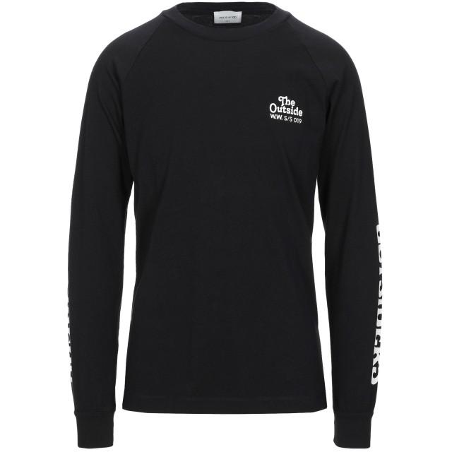 《セール開催中》WOOD WOOD メンズ T シャツ ブラック S コットン 100%