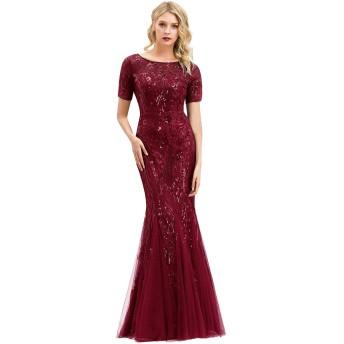 Ever-Pretty ロングドレス 演奏会 ドレス ワンピース 二次会 パーティードレス イブニングドレス ブライズメイド ドレス キャバ ウェディングドレス