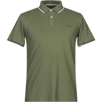 《セール開催中》WOOLRICH メンズ ポロシャツ ミリタリーグリーン S コットン 95% / ポリウレタン 5%