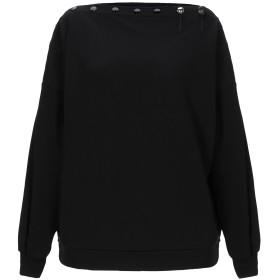 《セール開催中》8PM レディース スウェットシャツ ブラック S コットン 65% / ポリエステル 35% / ポリウレタン