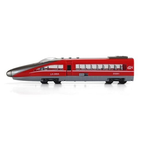 【淘氣寶寶】小小家 小小鐵道迷磨輪聲光高速火車-紅色 G1708
