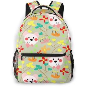 リュック バック クマ46, リュックサック ビジネスリュック メンズ レディース カジュアル 男女兼用大容量 通学 旅行 鞄 カバン