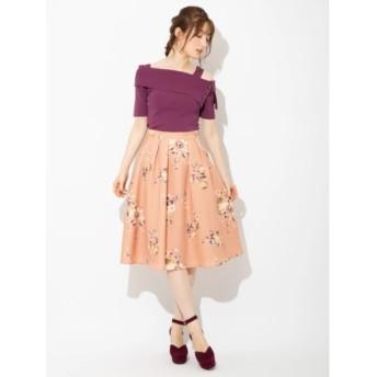 【ビーラディエンス/BE RADIANCE】 ブーケフラワータックフレアスカート