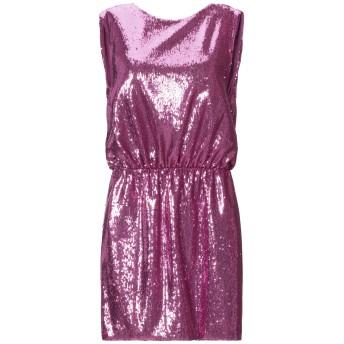 《セール開催中》SIMONA CORSELLINI レディース ミニワンピース&ドレス パープル 38 ポリエステル 85% / ナイロン 15%