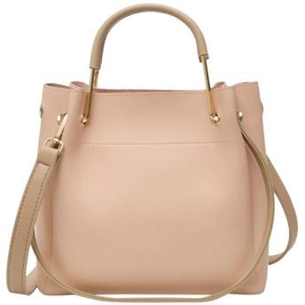 女性のかばんレディースショルダーバッグカジュアルハンドバッグレトロショルダーバッグアウトドアソリッドカラーのレザーメッセンジャーバッグ、ピンク
