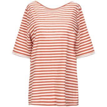 《セール開催中》.TESSA レディース T シャツ 赤茶色 XL コットン 100%