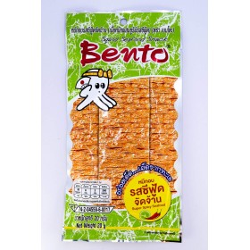 Bento Squid Seafood Snack Super Spicy Seafood Flavour 20g.