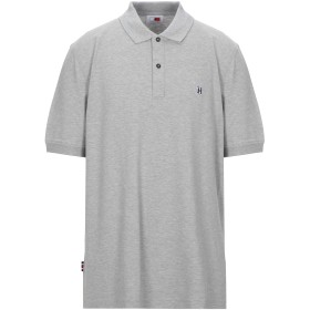 《セール開催中》TOMMY HILFIGER メンズ ポロシャツ グレー M コットン 100%