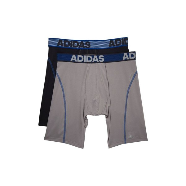 Adidas Men/'s Boxer Briefs XL 40//42 2 Pack Black Blue Red Grey White Climacool