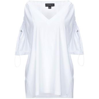 《セール開催中》SPORTMAX CODE レディース T シャツ ホワイト M コットン 100%