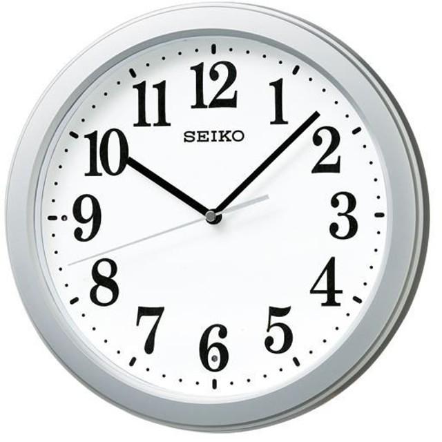(まとめ)セイコークロック 電波掛時計KX379S 1台〔×2セット〕