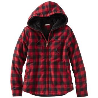 スコッチ・プラッド・フランネル・シャツ、シェルパ・ラインド ジップ・フーディ/Scotch Plaid Flannel Shirt, Sherpa-Lined Zip Hoodie