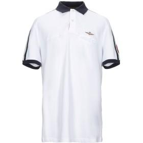 《セール開催中》AERONAUTICA MILITARE メンズ ポロシャツ ホワイト XXL コットン 100%