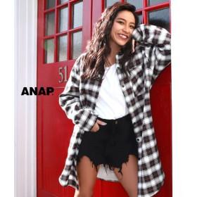 【セール開催中】ANAP(アナップ)裏ボアチェックシャツ