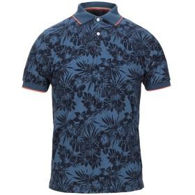 《セール開催中》SUN 68 メンズ ポロシャツ ブルーグレー S コットン 95% / ポリウレタン 5%