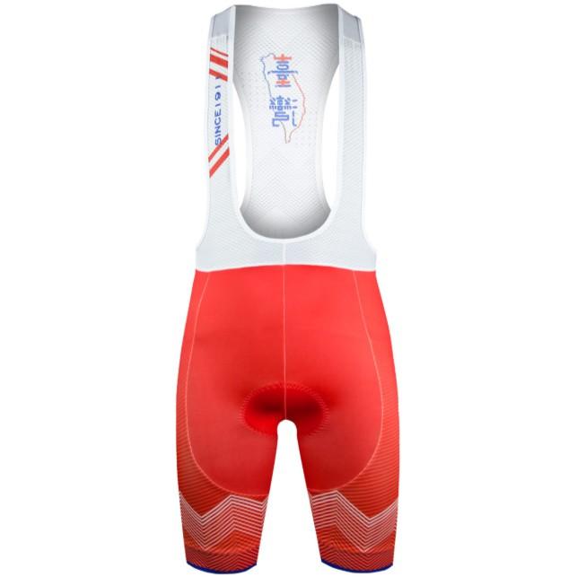 BAISKY百士奇自行車褲男款吊帶短褲 雙十轉變 紅 2019年國慶款