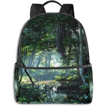 バックパック メンズ レディース ビジネス おしゃれ 高校生 通勤 大容量 多機能 盗難防止 防水 通学 旅行鞄 熱帯雨林をクリアする熱帯