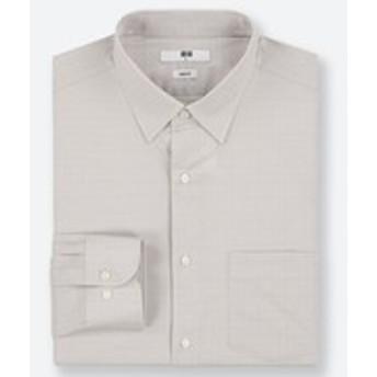 ファインクロスストレッチスリムフィットチェックシャツ(レギュラーカラー・長袖)